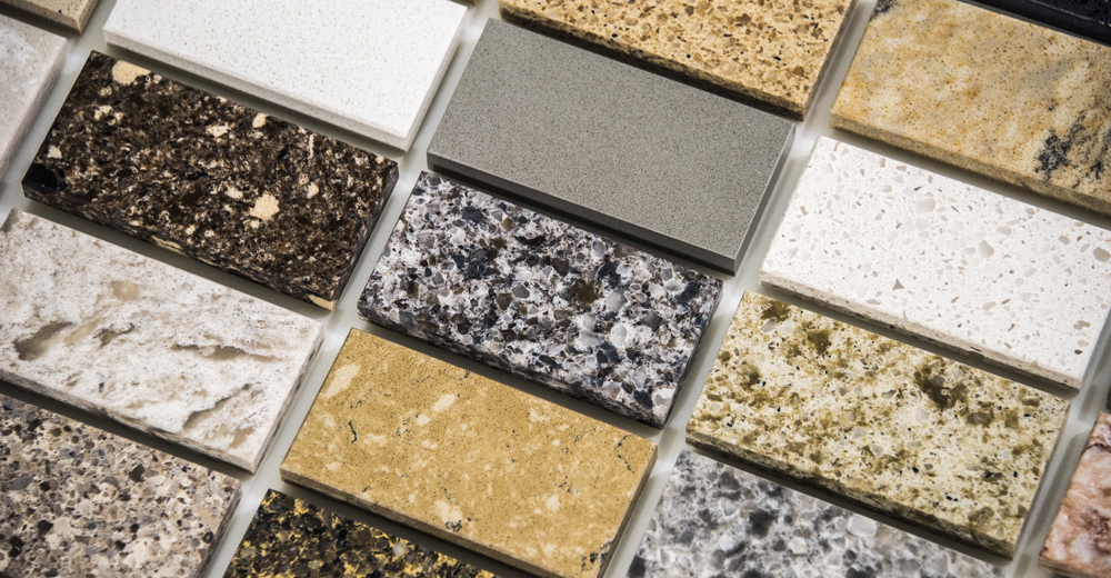 Different granite slabs show its versatility as a material