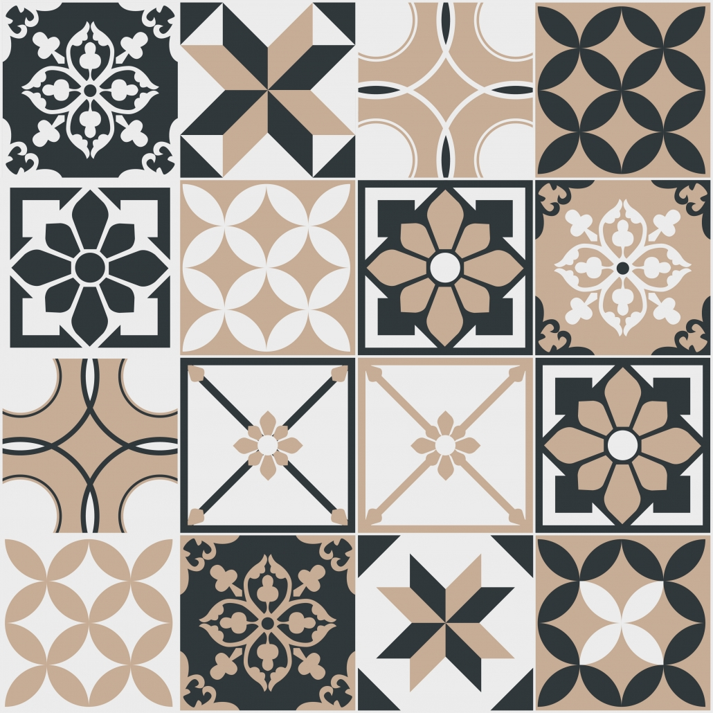 Tile patterns for the floor