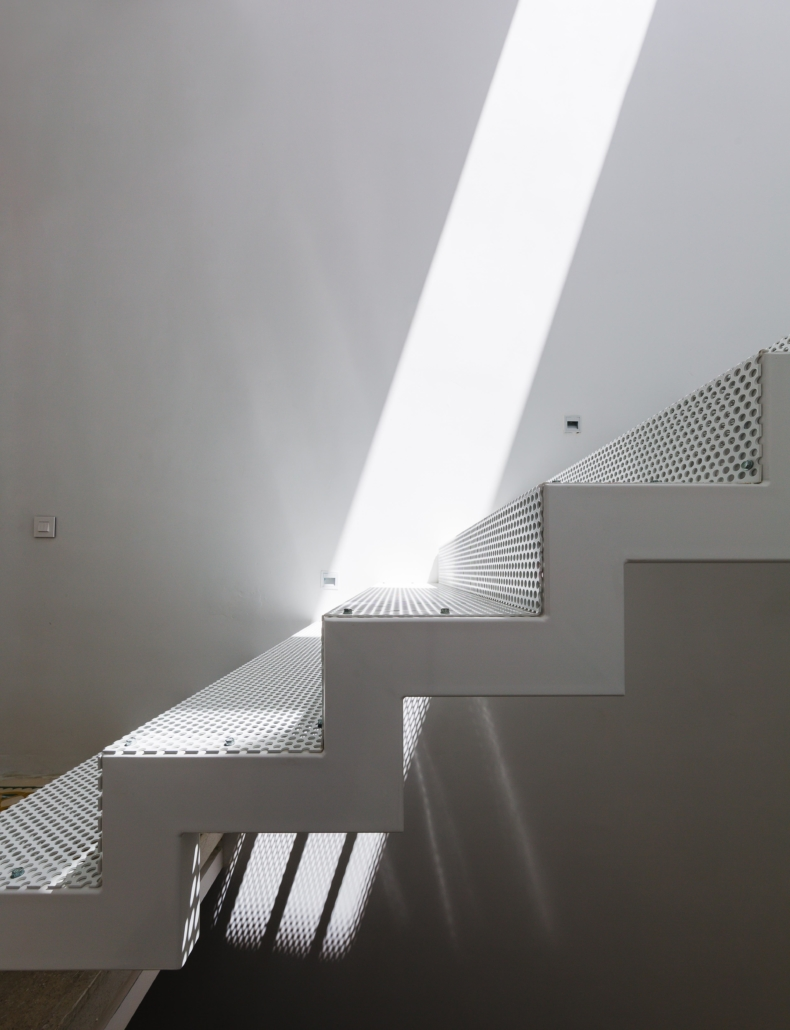 lighting over stairs