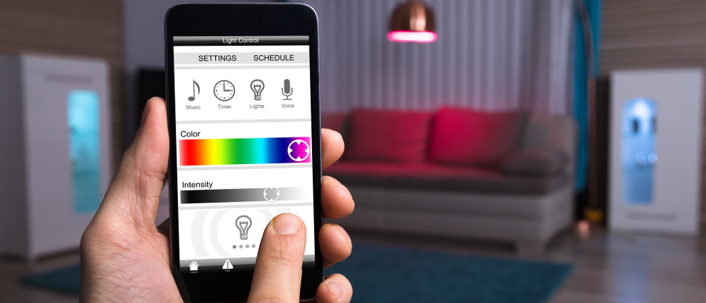 app controls light in the room