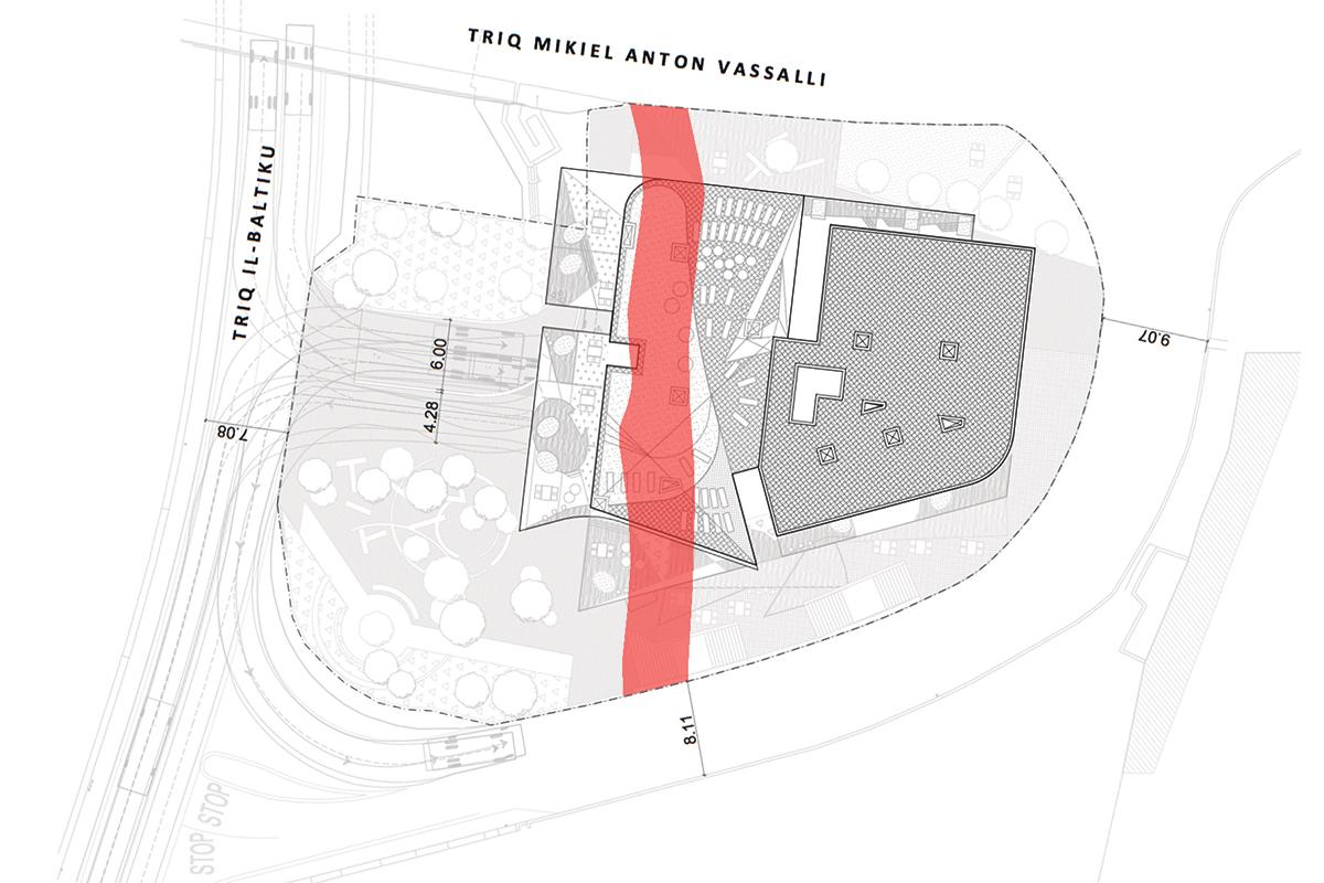The tender for the public land superimposed over the planned hotel development.
