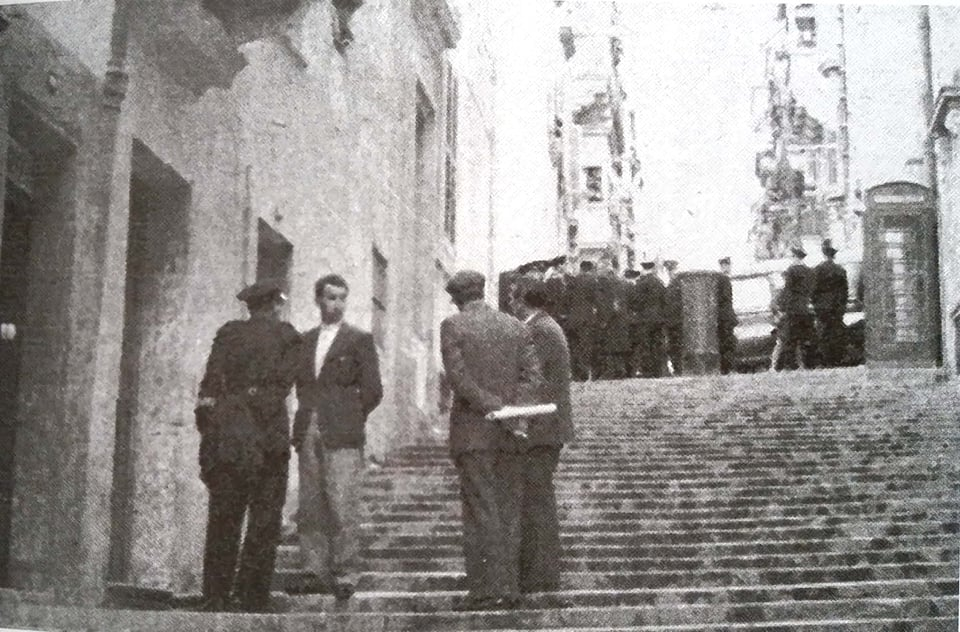 The First door on the left is 102, St Dominic Street. The place where Twannie was murdered.